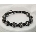 Shamballa armbånd med svarte krystall perler