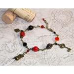 Røde og svarte armbånd til røde viner fan