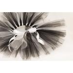 Hvit og svart TuTu skjørt med bånd