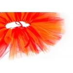 Oransje og rød TuTu skjørt med bånd