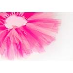 Rosa og lys rosa TuTu skjørt med bånd